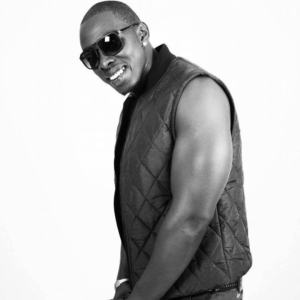 deejay limbo laughing on white background